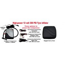 PUNC271: High-power 12 volt 300 PSI Tyre Inflator / Compressor