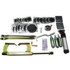 KIT114: Complete Motorcycle Tyre Repair Kit For Tubed Motorcycles  With Beadbreaker and 300mm Levers